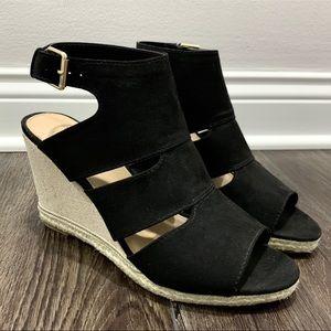 Apt. 9 Business Black Wedge Sandals